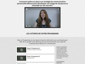 Présentation des étapes du programme de formation en ligne sur le Personal Branding